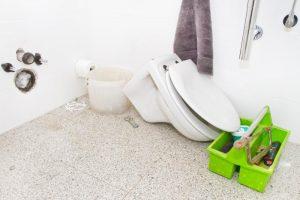 remplacement de wc suspendu