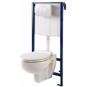 Pack wc suspendu Mural + cuvette suspendue rimless