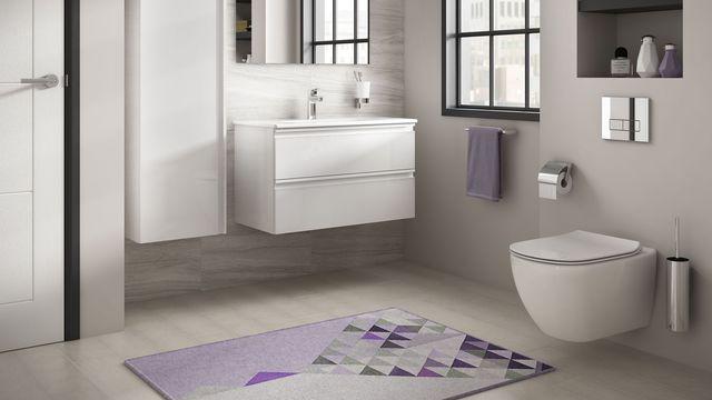 illustration de wc dans une salle de bain